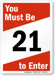 must-be-21-sign-s-9126-21